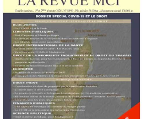 Revue MCI : Un tour d'horizon juridico-économique sur la crise sanitaire