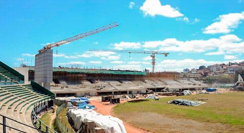 Football : Le stade de Mahamasina prend forme