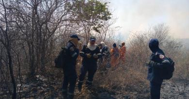 Continúan las labores para la extinción de incendio forestal en zona rural del municipio