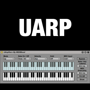 UArp Logo: The Ultimate Arpeggiator / Sequencer by MIDIMood