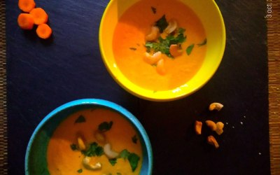 Soupe simplissime de carottes crues