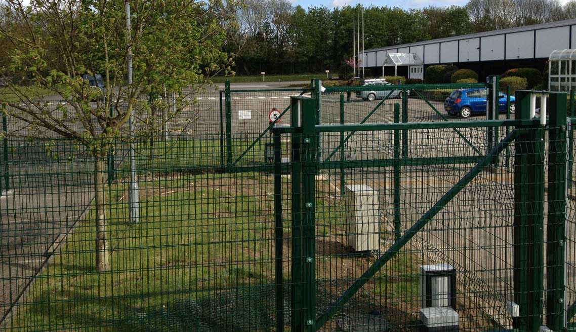 mesh-clad-industrial-gate
