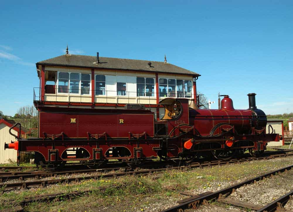 Class 158A at the Kettering Signalbox, Swanwick Junction