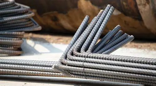 cut and bent rebar (loose bar)