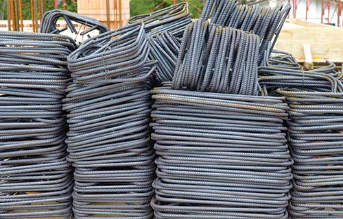Rebar cut and bent to British Standards