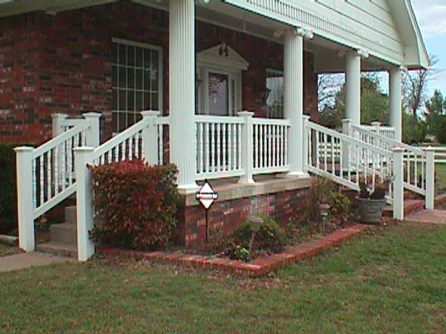 Victorian Porch Stair Railing Midland Vinyl Products | Home Depot Exterior Handrail | Wood | Wrought Iron | Deck | House | Interior