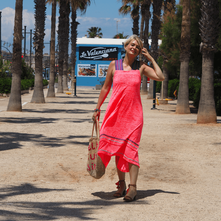 Midlifechic pink beach dress