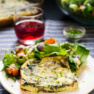 Oven Baked Frittata + Roasted Sweet Potato Green Salad