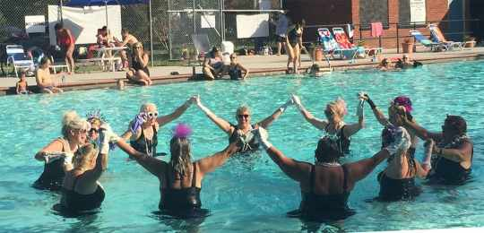 Inspired by the Candler Park Synchronized Swimmers!
