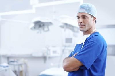 A handsome doctor in an operating theatre