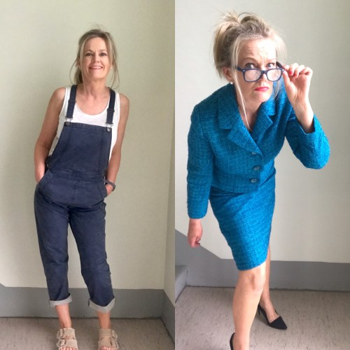 2 fun selfies from Instagram of a midlife woman