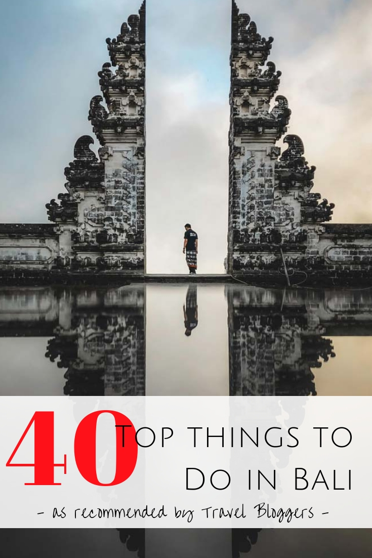 Heading to the Island of Gods? Travel bloggers share the 40 coolest places & top things to do in Bali. Beaches, adventure & authentic Balinese activities.  #bali #indonesia What do do in Bali? | Best things to do in Bali | Cool places to see in Bali | Bali Activities | Traveling to Bali, Indonesia | Best places to see in Bali