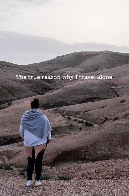 Why travel alone? The reasons are plenty and some are quite personal. I share the true reason why I travel alone and it may not be what you think. #solotravel