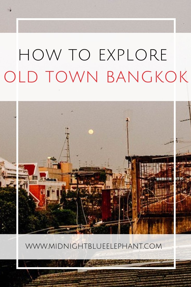 For a truly authentic Thai experience forgo the skyscrapers and head to old town Bangkok. Read on if you want to experience life like a local, see some of the best sights in Thailand & eat the yummiest Thai street food in the old city of Bangkok! #bangkok #thailand #oldtownbangkok #chaopraya #streetfood #thaifood