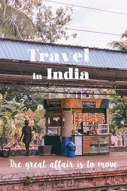 Train station platform in India with kiosk - Great Indian Blog Train
