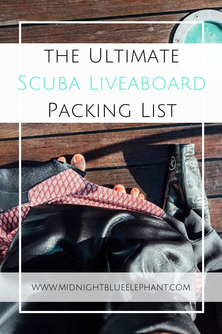 Going scuba diving on a liveaboard is the best way to explore far-flung destinations but what to pack for a dive trip? Check out my ultimate liveaboard packing list for mermaids. From which wetsuit to take, what dive equipment is a must, and what to wear on a diving boat. #scubadiving #scuba #traveltips #liveaboard #packinglist