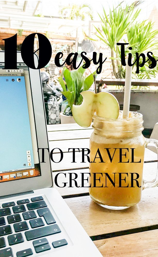 Are you looking for some easy to implement tips to green travel? Even if you are a lazy traveler, I'v got you covered - eco friendly travel made easy. How to skip on plastic use and still get Starbucks, the best reef-friendly sunscreen, what I really think of the diva cup, and how great a bamboo toothbrush is. #greentravel #traveltips #ecofriendly #travel #wastefreeworld