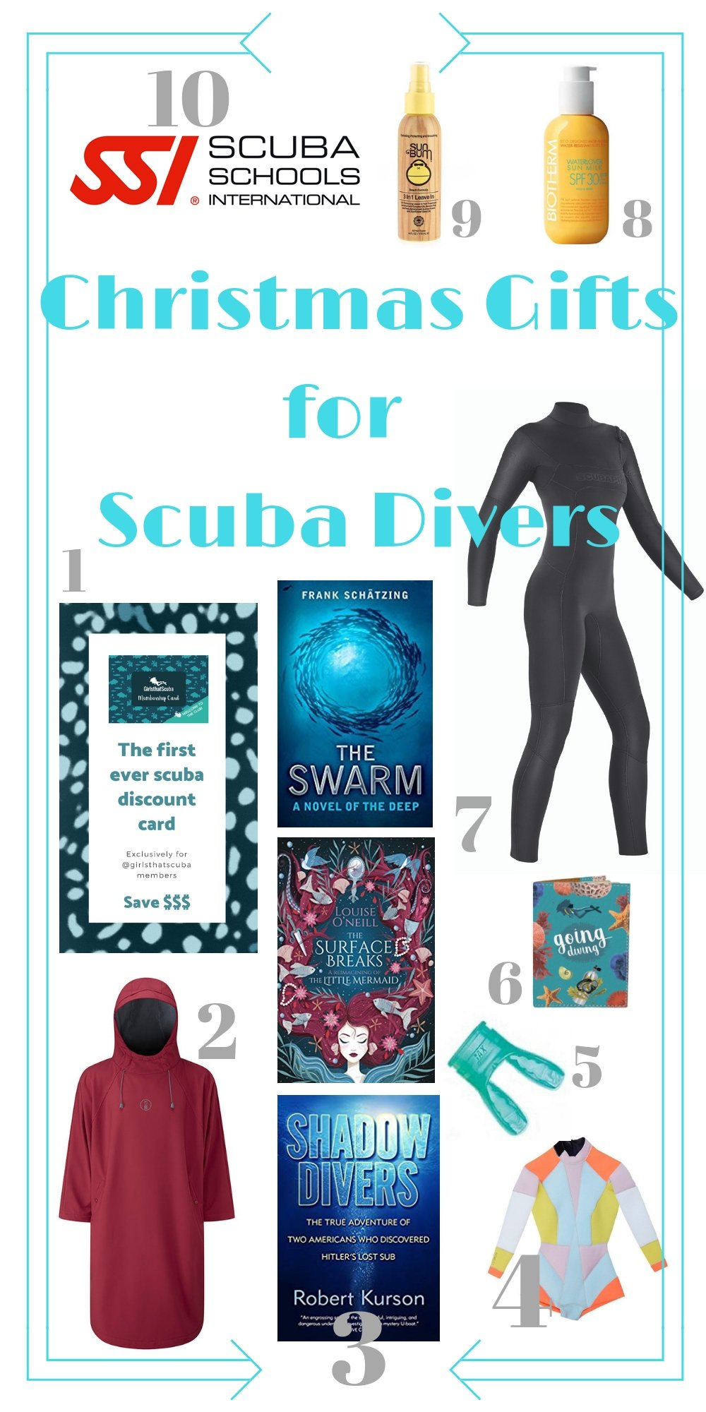 If you are looking for a present for the mermaid in your life I got some ideas for you: great gifts for scuba divers. From cool eco-friendly wetsuits to scuba books find the right scuba gift here.