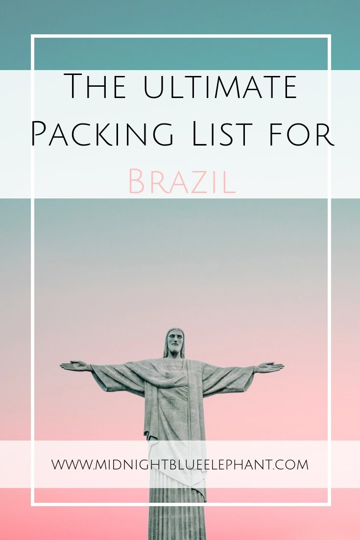 Going to Brazil and not sure what to pack? Check out my ultimate yet slightly different travel packing list for Brazil clothing and travel accessories. #brazil #packinglist #braziltravel #brazilclothing