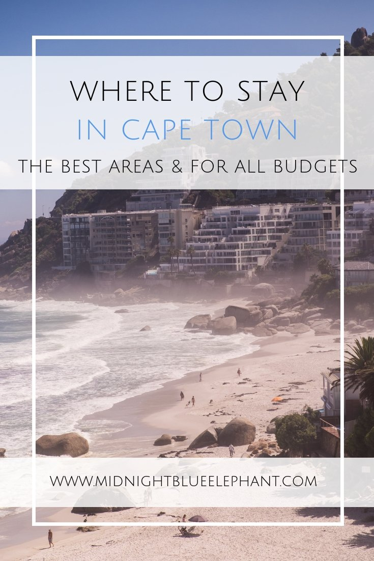Where to stay in Cape Town is one of the questions I get most. So I put together a great list of places to stay in Cape Town for all budgets. From cute guest houses in Cape Town & Airbnb to luxury hotels in all areas of town which are safe and beautiful. Read on for some of the best Cape Town accommodation for all tastes and budgets.  #capetown #southafrica #capetownaccommodation #capetownhotels #vawaterfront #campsbay #clifton #houtbay #constantia #woodstock