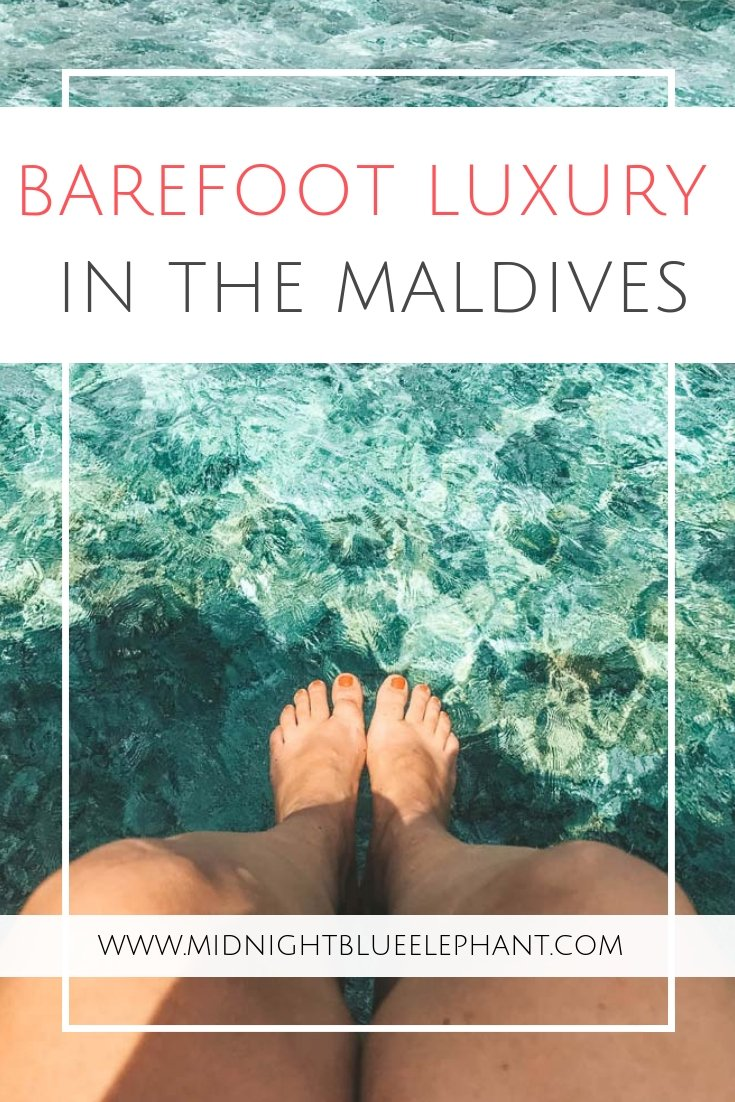 Looking for eco-friendly luxury in the Maldives? Check out Soneva Fushi, a Maldives luxury resort and the original barefoot hotel that is leading the way of sustainable tourism. Barefoot luxury, marine conservation, and a sustainable eco-center await at the ultimate Maldives resort for a green holiday with bottomless ice-cream. #maldives #soneva #maldiveshotel #barefootluxury #ecohotel #maldivesisland #greentravel #sonevafushi #barefoothotel