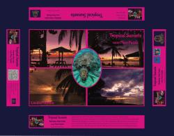 Tropical sunsets, Barbados, Caribbean Sunsets, jigsaw, 1000 piece jigsaw, limited edition jigsaw