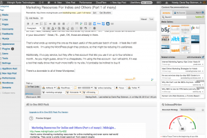 More of my screen is now taken up by SEO / writing tools than the actual articles!