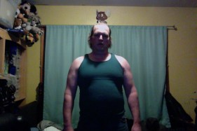 Fat guy transformation (I hope) week 1 of 15 for WHG training. Shirted, gut hanging out, not flexed.