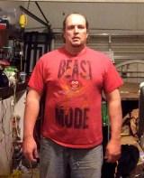 Fat guy transformation (I hope) week 5 of 15 for WHG training. Shirted, gut hanging out, not flexed.