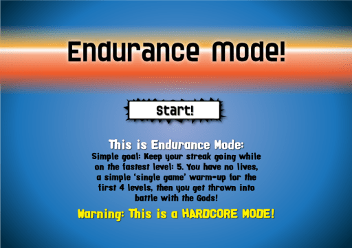 Endurance Mode!