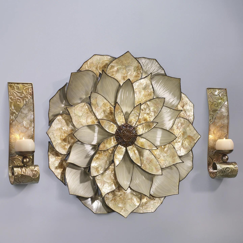 Capiz Wall Sconce Pair | Midnight Velvet on Flower Wall Sconces id=44710