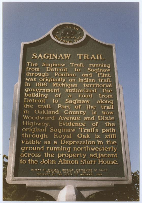 Saginaw Trail Marker
