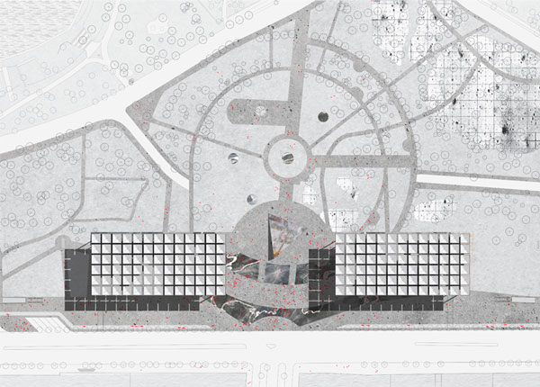 Plan of Liget Museum project in Budapest