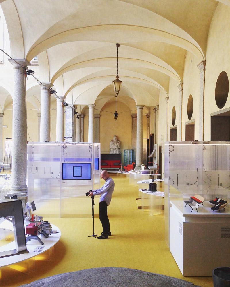 Exhibition Compasso D'oro - ADI in Palazzo Isimbardi, Milan.