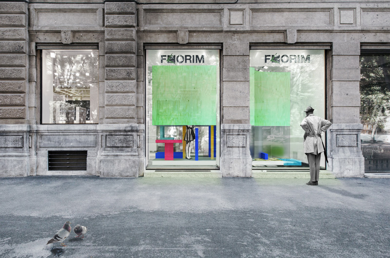 Render for Florim Exhibition Competition in Milan.