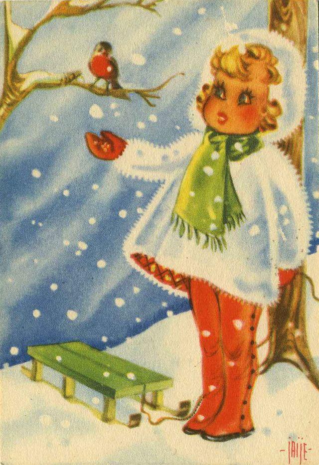 Swedish God Jul Cards Vintage Swedish Christmas Postcards