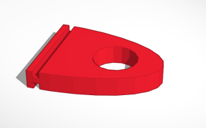 TinkerCad render of the replacement banner clip model