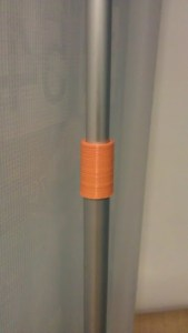 Replacement rod clamp for collapsible banner stand