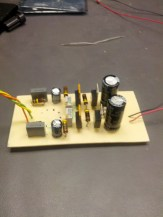 All the components on the board