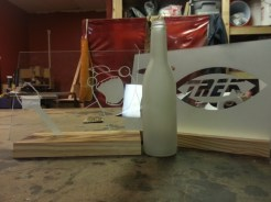 First results of sand blasting