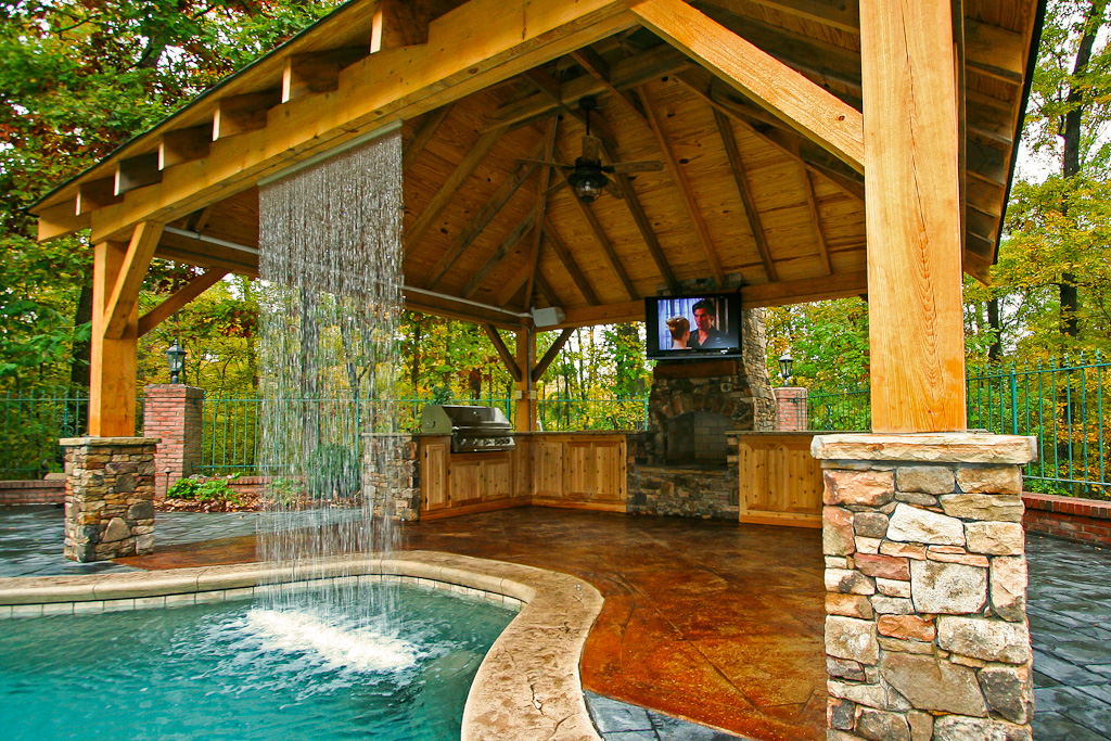Outdoor Living - Mid State Pools on Outdoor Kitchen By Pool id=50289