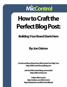 How To Craft The Perfect Blog Post by Jon Ostrow-MicControl