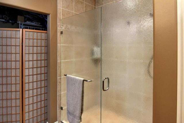 Master Bath custom tile and glass shower (standard feature), 116 FWHD