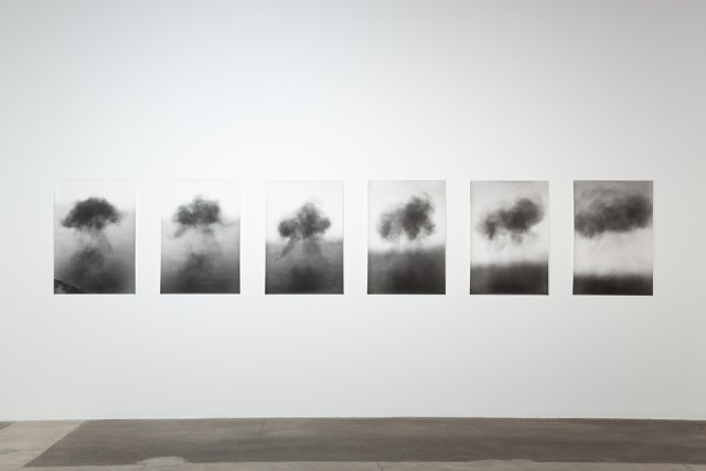 Continental Drift, 2010. 6 b&w photographs, silver gelatin prints. 38 x 26 inches each, 38 x 197 inches overall.