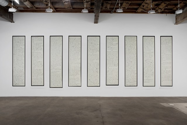 Hidden, 2014. Nine inkjet prints. 114 x 336 inches, installed