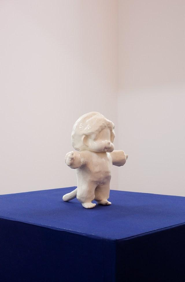 モンチッチ, 2012. Porcelain slip cast, foam, buckram covered box. 30 x 28 x 12 ½ inches.