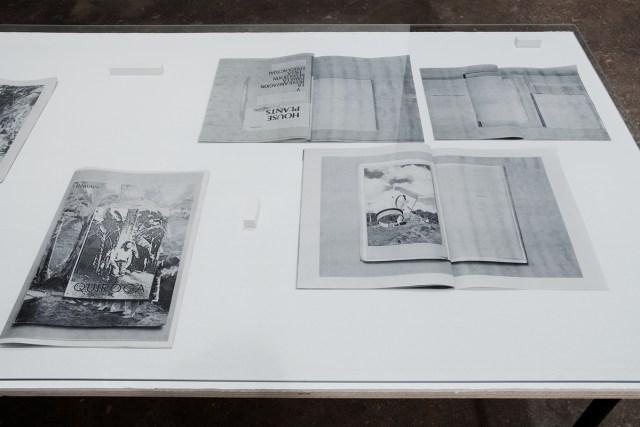 Ediciones del Exotismo Ordinario Internacional Neotropical, detail, Ongoing from 2011. Digital prints on newsprint paper (lapel revolución). Dimensions variable.
