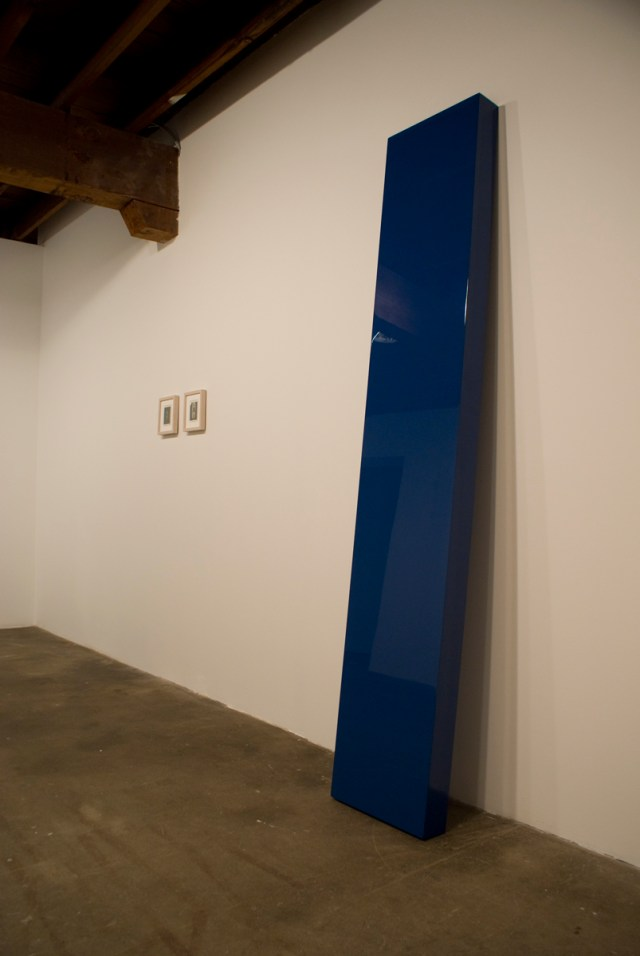 The Secret Life of Ojects, Gallery 2 installation view. Left to right: Carlo Mollino, Untitled and Untitled, both circa 1960-73; John McCracken, Sound, 2004.