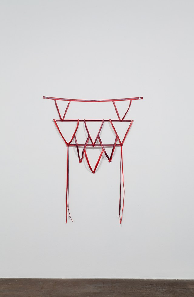 S.D.S. Prop for Science, 2010. Paper, paint, wire, sheet metal, nails. 51 x 39 x 2 ½ inches.