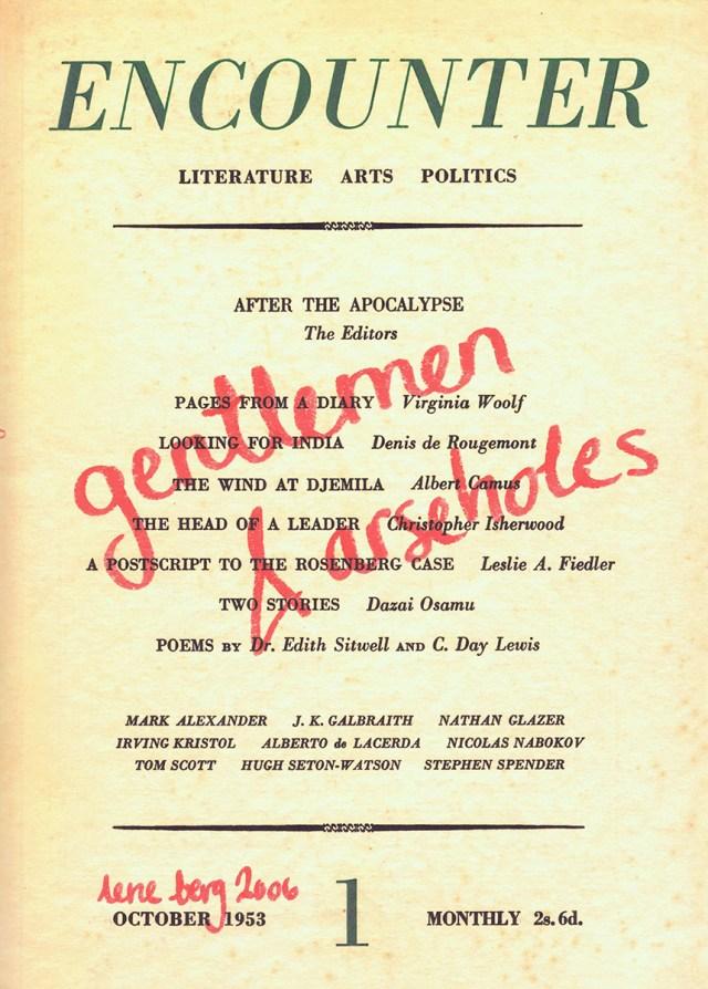 Encounter: Gentlemen & Arseholes, 2006. Publication, 120 pages.
